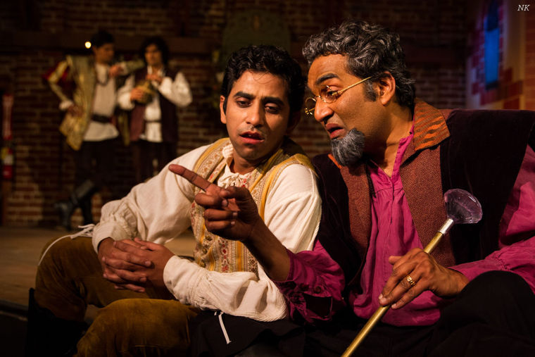 """The acclaimed Indian American theatre troupe Naatak is presenting a Hindi version of """"The Taming of the Shrew"""" at the Tabard Theatre Compay in downtown San Jose, Calif., through Mar. 29. (Neha Kumar photo)"""