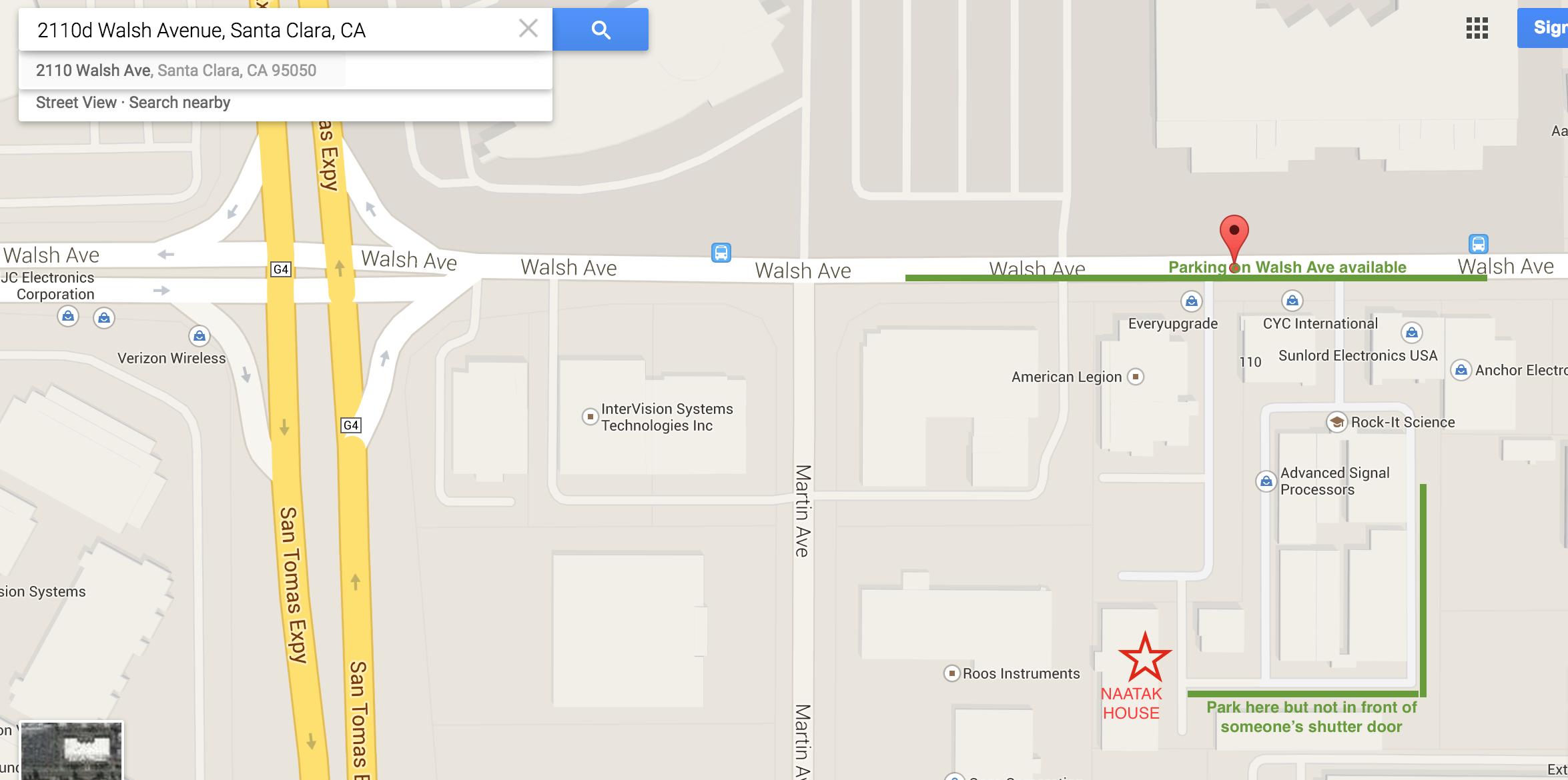 Naatak House Parking Map